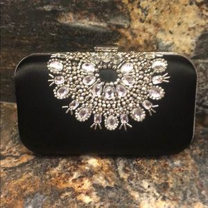 Black dress clutch